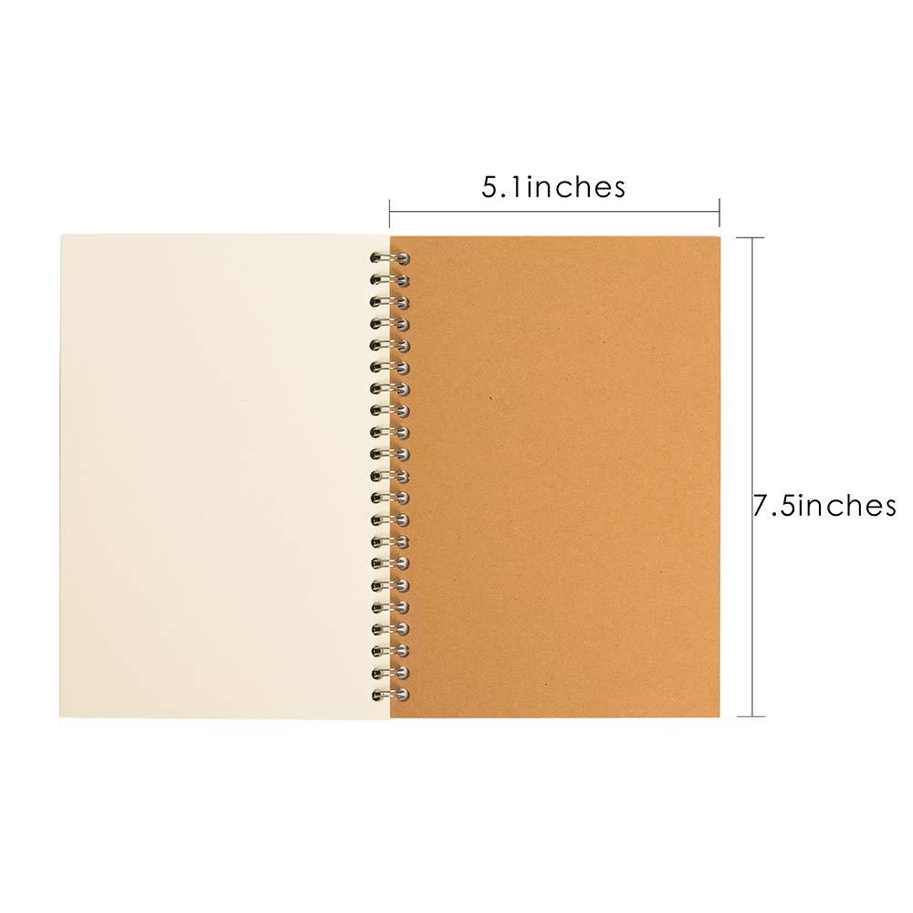 Amazon.com: YiTai - Cuaderno de bocetos en espiral de tapa ...