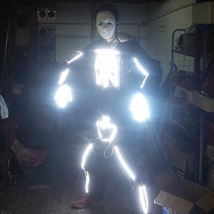 Las luces LED trajes esqueleto ropa personalizada esqueleto ...