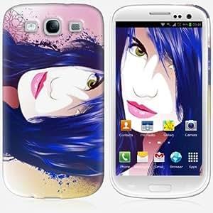 Galaxy S3 case - Skinkin - Original Design : Blue hair by Lorenzo Imperato