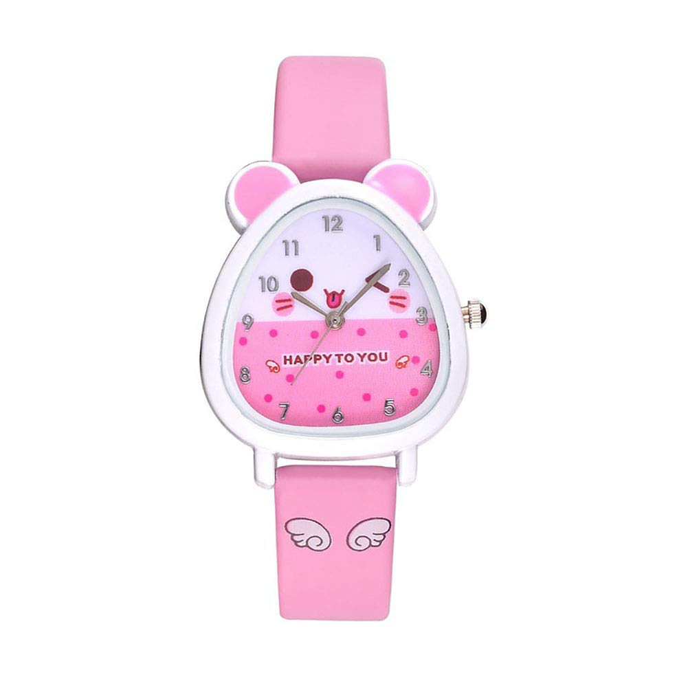 Cute Cartoon Faux Leather Strap Children Kids Analog Quartz Wristwatch Gifts Fashion Wrist Studens Watches