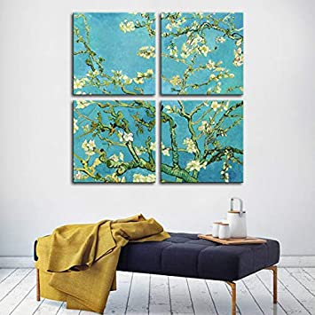 Amazoncom Vega Canvas Works Of Van Gogh Almond Blossoms