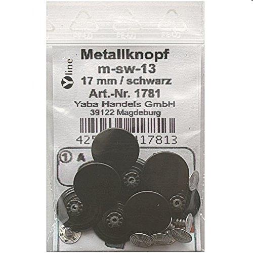 8 Metallnöpfe Jeansknöpfe schwarz,Metall-, Jeans- Knopf Knöpfe,Nähfreiknöpfe im Polybeutel, m-sw-13