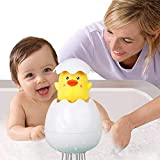 Fiotasy Educational Baby Bath Toys,Buoyancy Fun Duck Bath Toys in Bathwater Swimming Pool,Eco-friendly Material Playing Games Educational for Babies Toddles Kids Boys Girls (Fun Duck Egg)