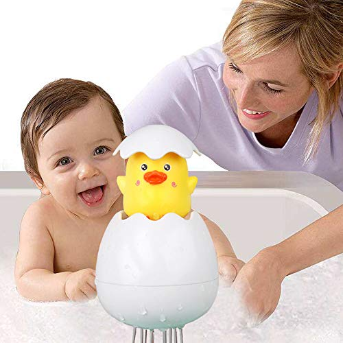 Riotaxy Fun Playing Egg Bath Toy Kids, Eco-Friendly Material,Water Play Toddler Swimming Pool Bathtub Beach Toy Shower Bath Educational Toys Bathing Water Spraying Tool Kids (Duck Egg)