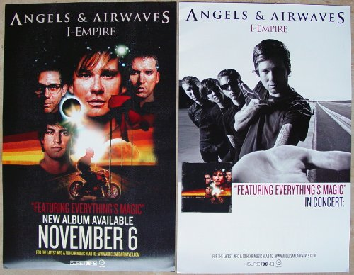 Angels & Airwaves - I-Empire - Two Sided Poster - New - Rare - Blink 182 - Tom DeLonge - David Kennedy - Atom Willard - Matt Wachter - 30 Seconds to Mars - Boxcar Racer - Hazen Street - Rocket from the Crypt - The Offspring