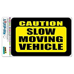 amazoncom caution slow moving vehicle mag neato39stm With kitchen cabinets lowes with slow moving vehicle sticker