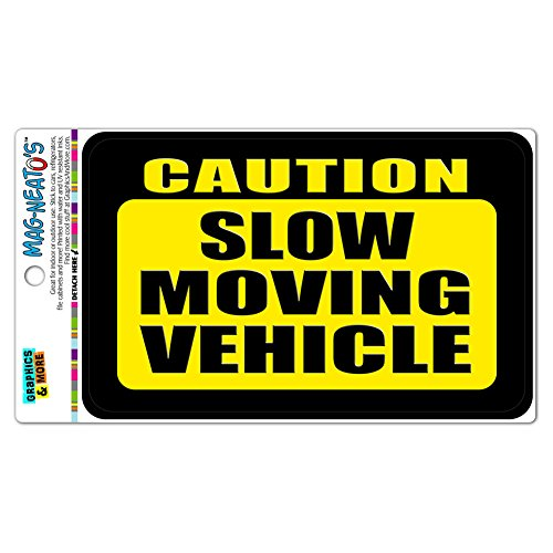 Caution Moving Vehicle MAG NEATOS Magnet