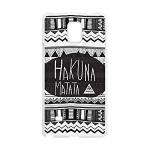Hakuna Matata Fashion High Quality Comstom Protective case cover For Samsung Galaxy Note4