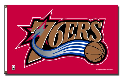 NBA Philadelphia 76ers 3-Foot by 5-Foot Banner Flag
