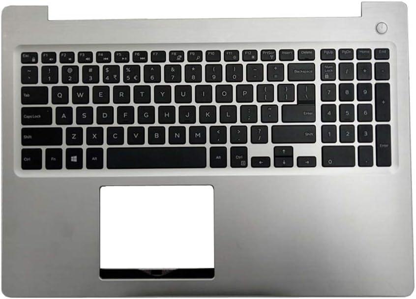 GAOCHENG Laptop Palmrest for DELL Inspiron 15 5570 5575 P75F 0M1FJK M1FJK AP21C000810 Silver with US Keyboard Upper case Used