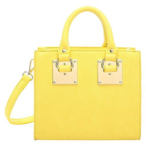 Aitbags Women Top Handle Purse and Handbag Crossbody Bag Mini Tote Shoulder Bag (Designer Handbag Yellow)
