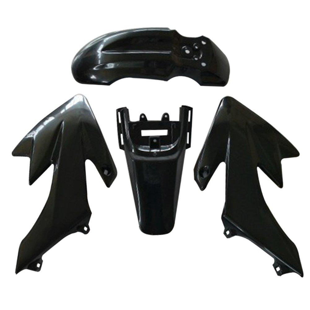 vanpower Juego de 7 carenados de pl/ástico para motocicleta Honda CRF XR 50 negro + blanco