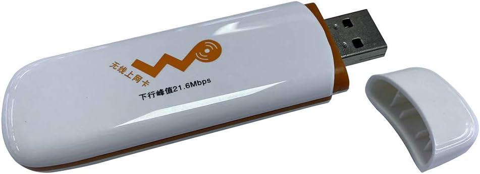 Gazechimp Universal 7.2Mbps Módem USB TF Adaptador Tarjeta Inalámbrica 3G SIM Dispositivo de Seguridad Rojo