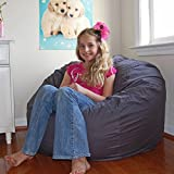 Ahh! Products Gray Organic Cotton Large Bean Bag Chair