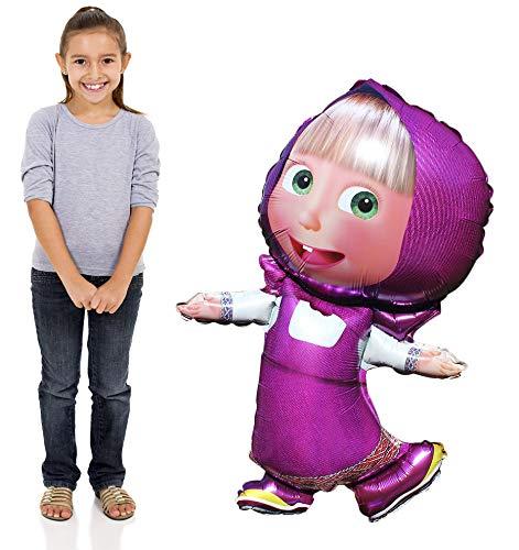 - Masha and the Bear Super Shape Figure of Masha Balloon Party Supplies 42 inch Masha y el Oso Globo fuentes del Partido