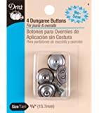 Dritz(R) No-Sew Dungaree Buttons - Copper