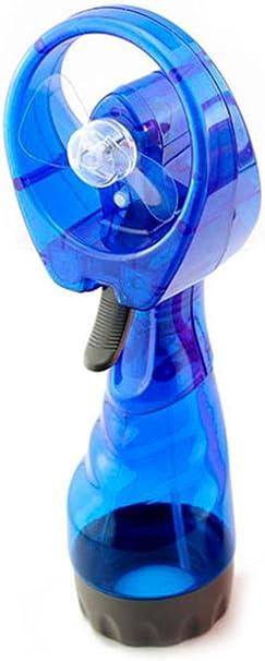 Ventilador Mano con Pulverización de Agua Azul: Amazon.es: Electrónica