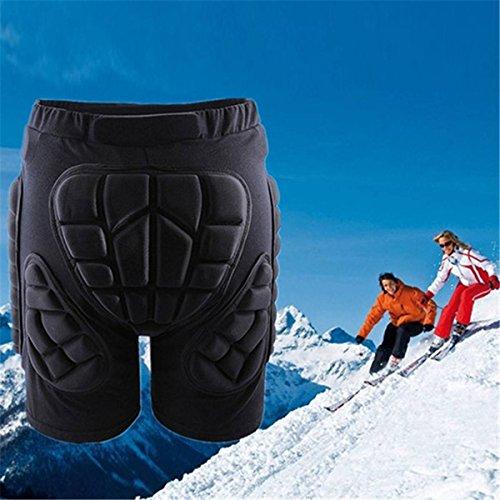 OUTERDO Erwachsene Kinder Protektoren Hose Short Schutzhose mit HIP für Snowboard Ski XS