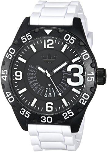 adidas Men's 'Newburgh' Quartz Plastic and Silicone Casual Watch, Color:White (Model: ADH3136)
