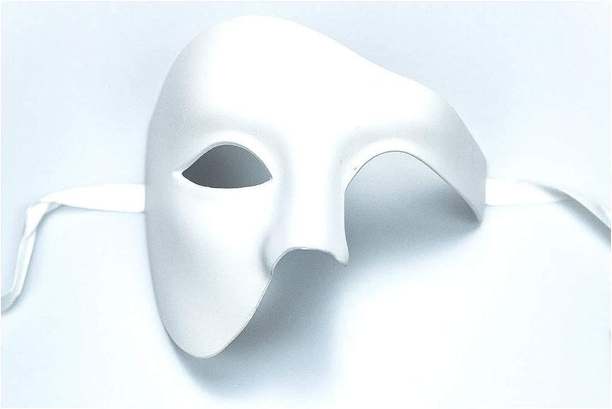 Yacanna Phantom Masquerade Mask Silver Phantom of The Opera Vintage Design Mask