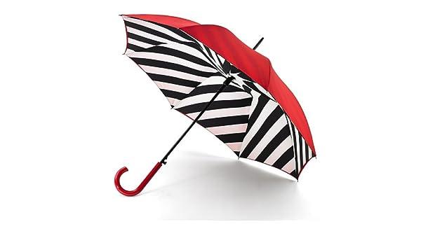 Lulu Guinness Walking paraguas Bloom Bury 2 Diagonal Líneas Ltd Edition: Amazon.es: Ropa y accesorios