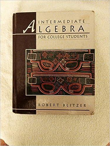Intermediate algebra for college students robert blitzer intermediate algebra for college students robert blitzer 9780023108440 amazon books fandeluxe Image collections