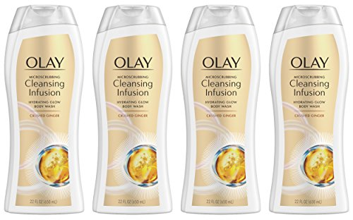 (Olay Microscrubbing Cleansing Infusion Crushed Ginger Body Wash, 22.0 Fluid Ounce (Pack of 4) )