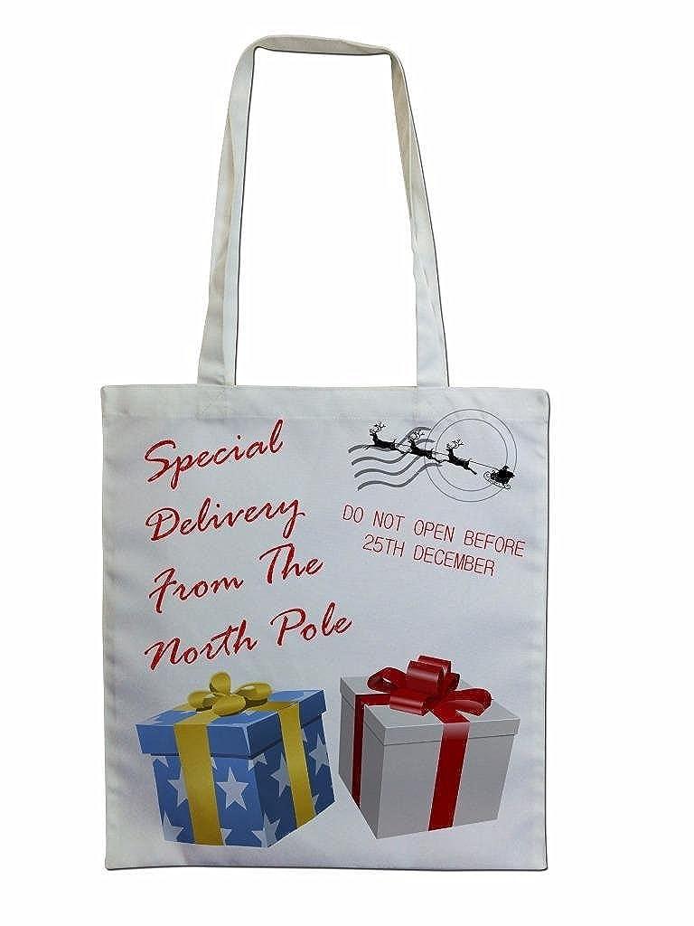 Amazon.com: Calcetín de Navidad Santa saco Regalos Regalos ...