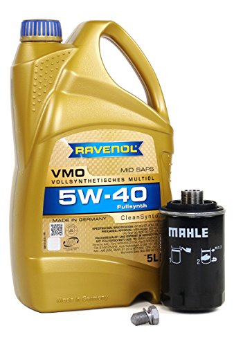 Blau J1A5088-D Motor Oil Change Kit - Compatible with 2011-17 Audi Q5 w/ 4 Cylinder 2.0T Engine - 5w40