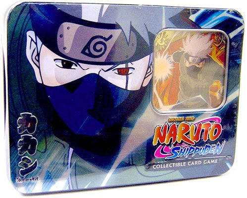 Naruto 2009 CCG: Guardian of The Village Tin Collector Tin Set: Kakashi Hatake - Great Gift! from Naruto