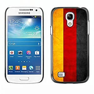 LJF phone case Shell-Star ( National Flag Series-Germany ) Snap On Hard Protective Case For Samsung Galaxy S4 MINI / i9190 / i9192