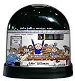 Personalized Friendly Folks Cartoon Caricature Snow Globe Gift: Bingo Player - Male Great for bingo player, gambler