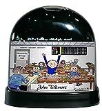 Personalized Friendly Folks Cartoon Caricature Snow Globe Gift: Bingo Player - Male Great for bingo player, gambler