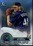 2018 Bowman Chrome Refractor Scouts Top 100#BTP-72 Corbin Burnes Milwaukee Brewers Baseball Card