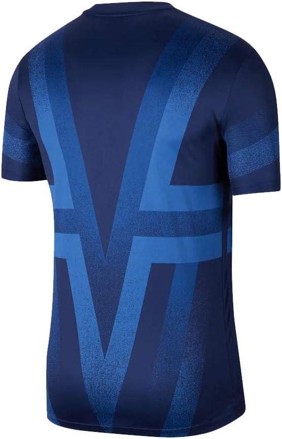 Amazon Com Nike 2019 2020 Tottenham Pre Match Training Football Soccer T Shirt Jersey Binary Blue Clothing