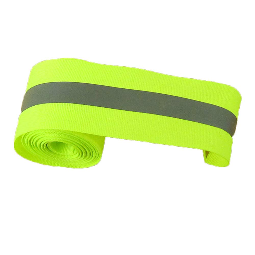 Lyanther Stoff Reflektierende Sicherheitsband Weste Trim Streifen nähen auf 5 Meter - größere Reflektierende Fläche - grün