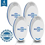 Premium Ultrasonic Pest Defender - Pest Reject Repeller - 2019 Best Repellant - Plug in Electronic Control Indoor Repellent - Repel Rodent Mouse Rats Bed Bugs Mosquito Spider Roaches Ant Mice Insect