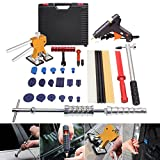 Mookis PDR Dent Puller Kit 35Pcs Auto Body Dent Repair Set with Tools Box Slide Hammer Dent Lifter Suction Cup Hot Glue Gun Knock Down Tools