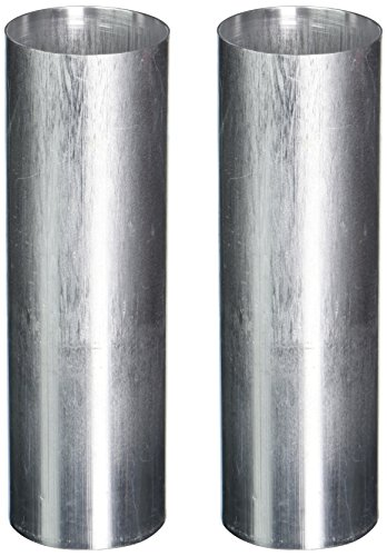 Candle Making Mold - Candlewic 2Pk of 2 X 6.5 Inch Round Aluminum One Piece Candle Molds