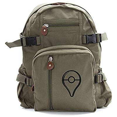 hot sale 2017 Pokemon Go Plus Button Heavyweight Canvas Backpack Bag
