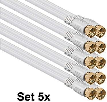 1aTTack C/âble coaxial//antenne//Satellite Connecteur F Coaxial m/âle vers coaxial Femelle