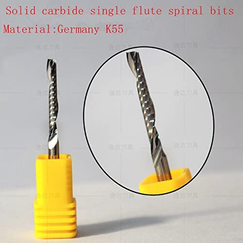 Solid Carbide End Mill Bit For Aluminum Flat Top 1.0mm Cutting Dia 4mm Shank