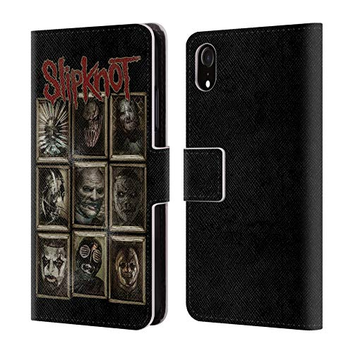 Official Slipknot Masks Key Art Leather Book Wallet Case Cover Compatible for iPhone XR]()