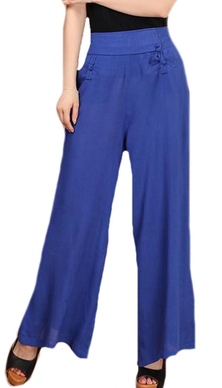 Unko Women's Fashion Casual Loose Wide Leg Palazzo Gaucho Pants