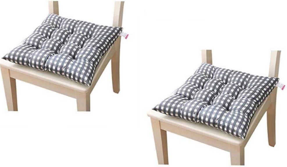 SZDLC Dada - Almohadillas de Asiento para jardín, Cocina, Oficina, Comedor, con Corbata, Paquete de 2 (37 x 37 cm)