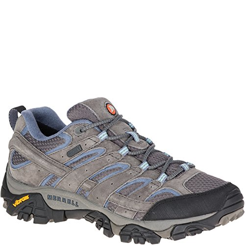 Image of Merrell Women's Moab 2 Waterproof Hiking Shoe, Granite, 9.5 M US