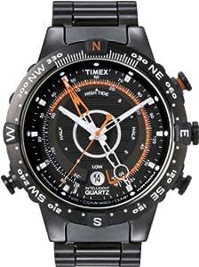 Timex T2N723D7 - Reloj analógico de cuarzo para hombre con correa de acero inoxidable, color negro