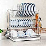 Hyun times Dishwashing stainless steel 41 31 43cm three layers of leaking kitchen utensils ( Color : With cage )