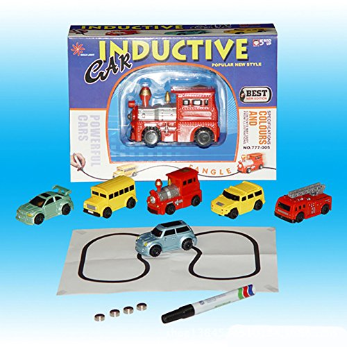 Qiyun Magic Mini Pen Inductive Toy Vehicles Car Model Follow Any Draw lines Toys For Children Gift (Line Dvr)