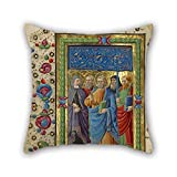 Pillow Covers Of Oil Painting Guglielmo Giraldi (Italian, Active 1445 - 1489) - All Saints 18 X 18 Inches / 45 By 45 Cm Best Fit For Outdoor Teens Girls Teens Bedding Seat Family Both Sides